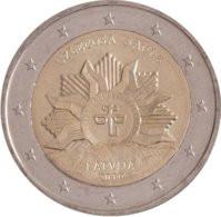 """2 Euro Commemorativo Lettonia  2019 -  """"Sole Nascente"""" - Latvia"""