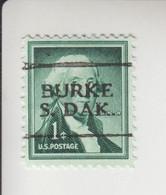 Verenigde Staten Voorafgestempelde Zegel: Staat South Dakota; Plaats: Burke - Voorafgestempeld