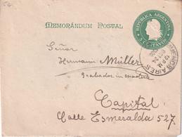 ARGENTINE 1900     ENTIER POSTAL/GANZSACH/POSTAL STATIONARY LETTRE DE BUENOS AIRES - Postwaardestukken