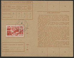 """POSTE AERIENNE N° 27. 500 Fr Sur Carte D'abonnement Aux Timbres-poste, Oblitération C-à-d """"ANNECY R.P. 24/12/52"""" - 1927-1959 Brieven & Documenten"""