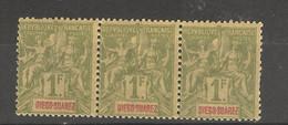 Diégo- Suarez (1894 ) 1 Bloc De 3 N°50 Neufs - Unused Stamps