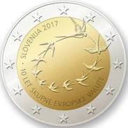 """2 Euro Commemorativo Slovenia 2017- """"10° Anniv. Introduzione Dell'euro In Slovenia"""" - Slovenia"""