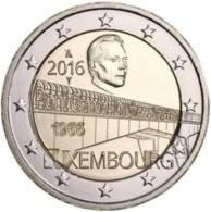 """LUSSEMBURGO  2 EURO 2016 """"50° Anniv. Ponte Granduchessa Charlotte"""""""" - Luxembourg"""