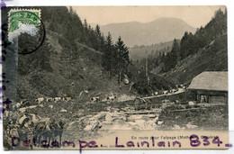 - Fribourg - En Route Pour L'alpage, (Monthélon ), Gruyére, épaisse, écrite, 1909, Attelage, Troupeau, TBE, , Scans. - AI Appenzell Rhodes-Intérieures