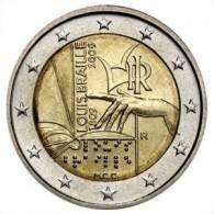 ITALIA 2009 2 EURO COMMEMORATIVO LOUISE BRAILLE - Italy