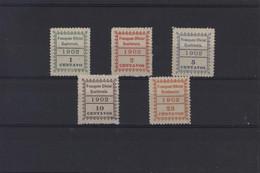 Timbres De Service Franqueo Oficial Guatemala 1902  YT 1 à 5 Charnière Neuf * Cote 50 Euros - Guatemala