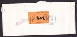 USA: Cover, 1985, 1 Stamp & Cinderella Label Juan De Fuca, Local Post, Olympics, Cancel Via Ferry (damaged!) - Brieven En Documenten