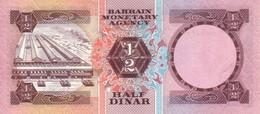 Bahrain P.7 1/2 Dinar 1973 Unc - Bahrain