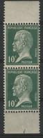 N° 170a PAIRE VERTICALE De Carnet Du 10 Ct Vert Neufs ** MNH Cote 7 € Avec Ses DEUX BORDURES BLANCHES. - 1922-26 Pasteur
