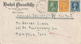 Etats Unis Lettre New York 1938 - Marcofilie