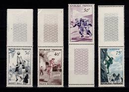 Serie Alpinisme 1956 YV 1072 à 1075 N** MNH Cote 25 Euros - Neufs