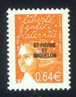 Saint Pierre & Miquelon 2002: Y&T No. 767a SANS PHOSPHORE Neuf ** / MiNr. 853a - Nuevos