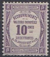 FRANCE TAXE Neuf Sans Gomme 44 - 1859-1955 Mint/hinged