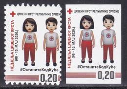 Bosnia Serbia 2020 Red Cross Croix Rouge Rotes Kreuz Cruz Roja Croce Rossa Perforated And Imperforated MNH - Bosnia Herzegovina