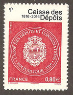 2016 - Timbre Adhésif 1269 A  CAISSE Des DEPOTS  N° 1269A NEUF** LUXE MNH - Sellos Autoadhesivos
