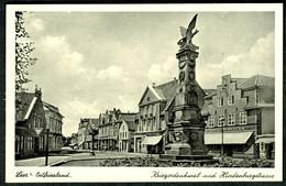 "Leer Ostfriesland 1937 "" Hindenburgstrasse Mit Kriegerdenkmal "" Carte Postale - Leer"