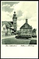 "Leer Ostfriesland 1937 "" Oldtimer Omnibus Und Auto Vor Alter Waage "" Carte Postale - Leer"