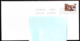 """Timbre Postal Adhésif (2020) """"Tous Engagés, Pilote D'hélicoptère Et Pompier"""" Seul Sur Lettre - 1961-...."""
