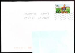 """Timbre Postal Adhésif (2020) """"Tous Engagés, Maraîcher"""" Seul Sur Lettre - 1961-...."""