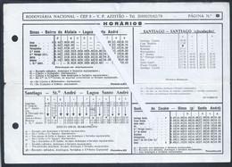 Horário Da Rodoviária Nacional De Sines A S. André. Petroquimica. Schedule Of The National Bus Station Of Sines To Lagoa - Europe
