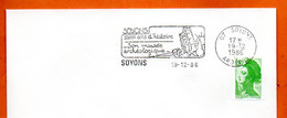 07 SOYONS  50 000 ANS D' HISTOIRE    1986 Lettre Entière N°  PQ 768 - Mechanical Postmarks (Advertisement)