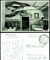 """Dahme Holstein 1941 AK """" Wal Walfisch Im Strand-Hotel + FELDPOST + LANDPOSTSTEMPEL über LENSAHN"""" Bale Whale - Dahme"""