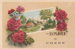 Un BONJOUR DE COZES. - Carte Pas Courante - Other Municipalities