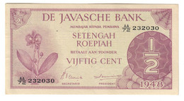 NETHERLANDS INDIES50CENT1948P97AUNC.CV. - Dutch East Indies