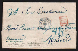 Préphilatélie (Italie Sicile) Lettre Avec Texte émouvant De Castellamare (Sicile) Du 20/12/1858..... - Sicile