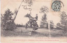 Saumur Résistance D Une Barrière Des Champs à La Ronde éditeur Voelcker N°124 - Saumur