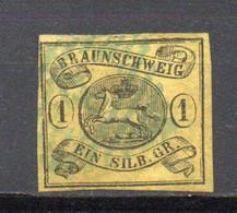 - ALLEMAGNE / BRUNSWICK N° 7 Oblitéré - 1 S. Noir S. Jaune - Cote 75,00 € - - Brunswick