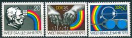 DDR - Mi 2090 / 2092 ✶✶ # - Welt - Braille - Jahr - Neufs