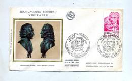 Lettre Fdc 1978 Ferney Voltaire Rousseau - 1970-1979