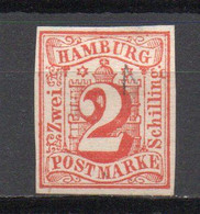 - ALLEMAGNE / HAMBOURG N° 3 Neuf Sans Gomme (trace D'oblitération ???) - 2 S. Rouge - - Hamburg