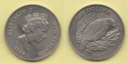 Nuova Zelanda Dollaro 1986 KAKAPO Bird New Zeland Nouvelle Zélande Nichel - New Zealand