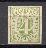- ALLEMAGNE / HAMBOURG N° 5 Neuf Sans Gomme - 4 S. Vert - - Hamburg