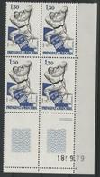 ANDORRE FRANCAIS N° 281 Bloc De 4 Avec Coin Daté Du 18/9/79 NEUFS ** (MNH). TB - Ungebraucht