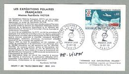 1968 FRANCE PREMIER JOUR 20 ANS D'ACTIVITÉ DES EXPÉDITIONS POLAIRES FRANÇAISES, SIGNÉ PAR PAUL-ÉMILE VICTOR - Covers & Documents