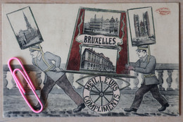 BRUXELLES : Carte Très Originale, Meilleurs Compliments En 1911 - Historische Persönlichkeiten