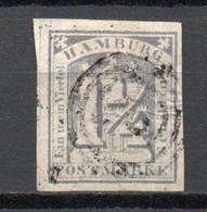 - ALLEMAGNE / HAMBOURG N° 8 Oblitéré - 1¼ S. Lilas - Cote 110,00 € - - Hamburg