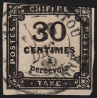 France Taxe N°6, 30c Noir, Oblitéré - Filet Touché - COTE 160 € - 1859-1955 Gebraucht