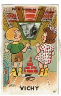 Vichy Carte Fantaisie  à Système Images Défilantes Carte Signée Bozz - Vichy