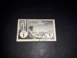 """A8MIX29 COLONIE ITALIANE CIRENAICA 1932 POSTA AEREA SERIE PITTORICA LIRE 1 """"O"""" - Cirenaica"""