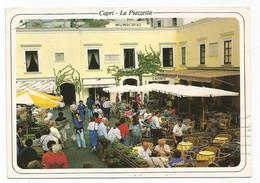 A5166 Capri (Napoli) - La Piazzetta - Municipio - Animata / Viaggiata 1992 - Autres Villes