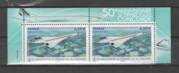 FRANCE / 2019 / Y&T PA N° 83a ** : 50 Ans Du 1er Vol Du Concorde (de Feuillet) X 2 = Haut Du Feuillet - 1960-.... Ungebraucht