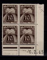 Coin Daté Taxe YV 67 N** Gerbes Du 6.2.45 , 1 Point Blanc - Portomarken