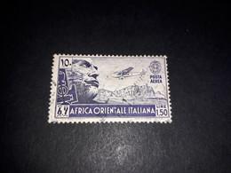 "A8MIX29 COLONIE ITALIANE AFRICA ORIENTALE ITALIANA AOI 1938 SERIE PITTORICA POSTA AEREA LIRE 1,50 ""O"" - Italian Eastern Africa"