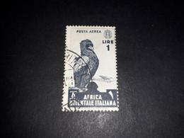 "A8MIX29 COLONIE ITALIANE AFRICA ORIENTALE ITALIANA AOI 1938 SERIE PITTORICA POSTA AEREA LIRE 1 ""O"" - Italian Eastern Africa"