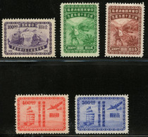 CHINA -  1947 50 Years Chinese Post. Unused With Hinges. MICHEL #830-834. - 1912-1949 Republik