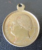 Médaille De Mariage Prince Napoléon / Princesse Clothilde - Laiton - Diam. 23 Mm, Poids : 5,3g - Royal / Of Nobility